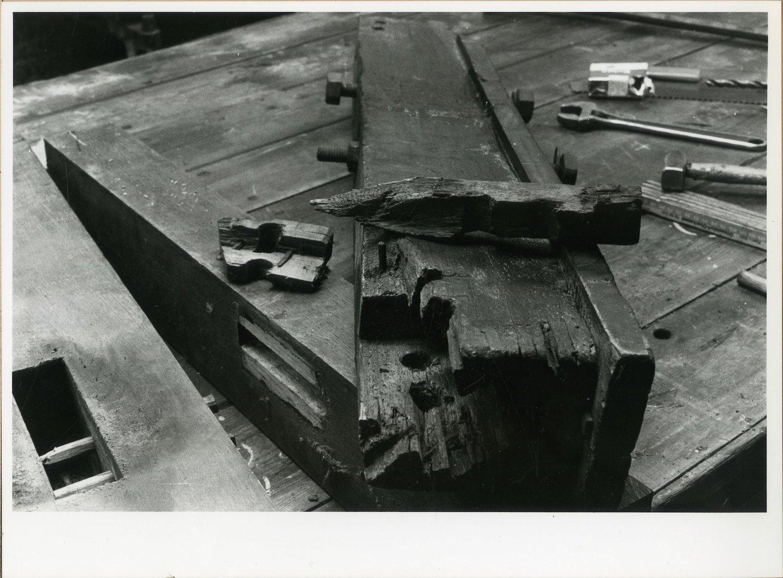 Foto uit reeks over de restauratie van de twijnmolen