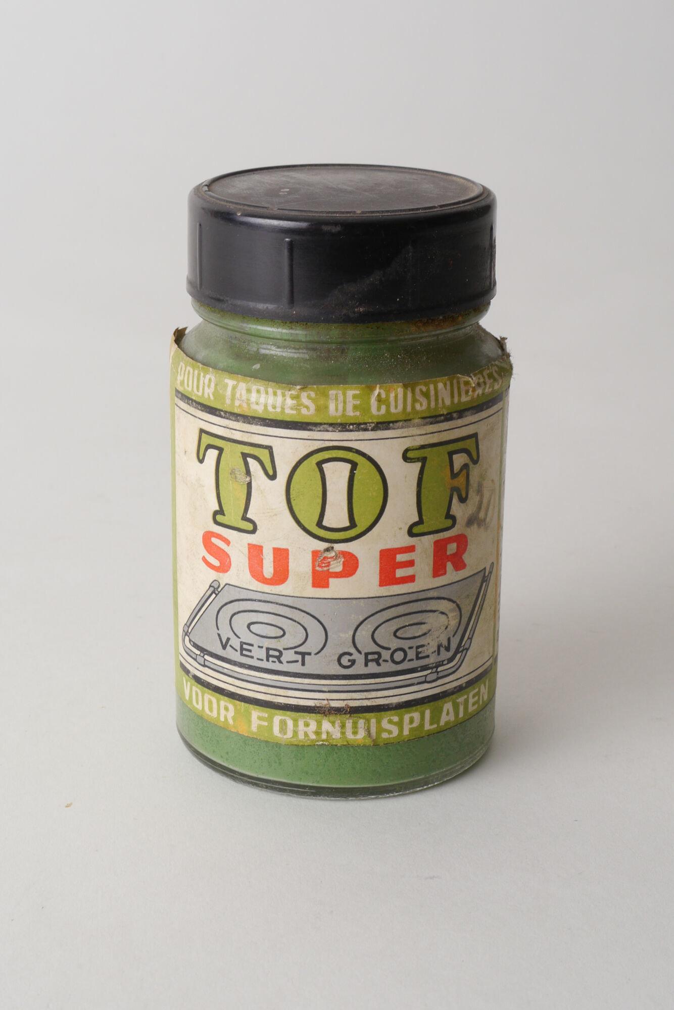 Schuurpoeder van het merk Tof in glazen pot