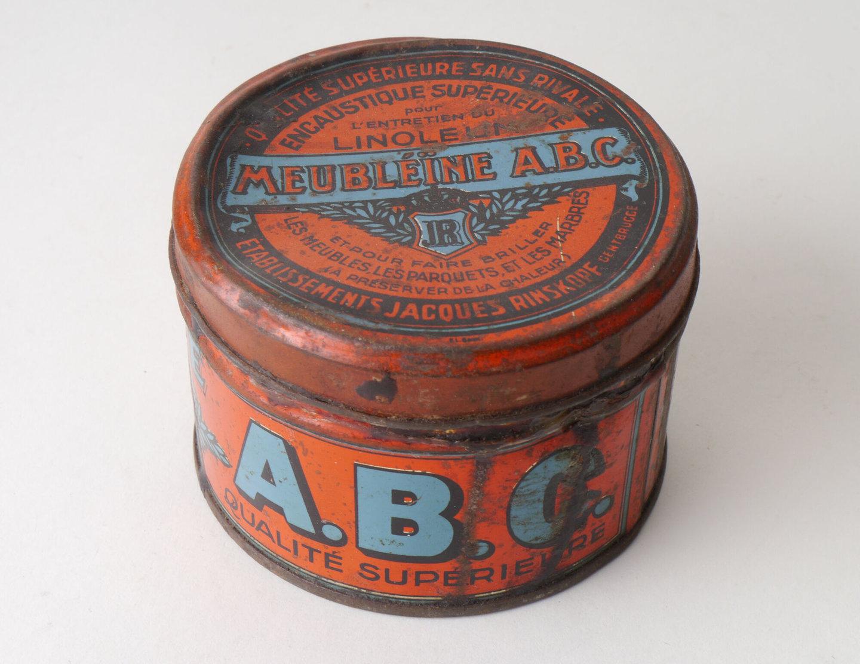 Blik met boenwas van het merk Meubléïne ABC