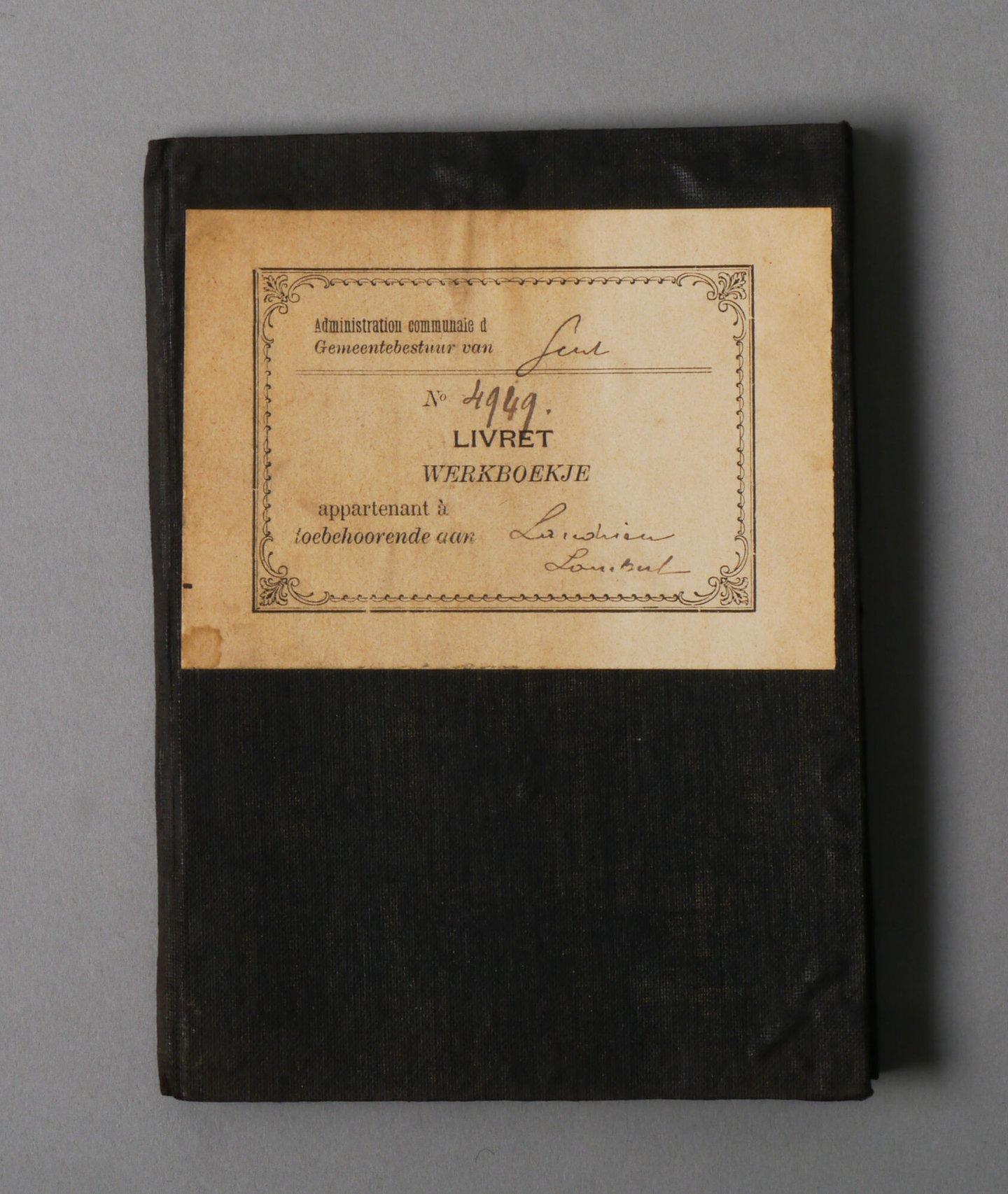 Werkboekje van Lambertus Clement Landrieu