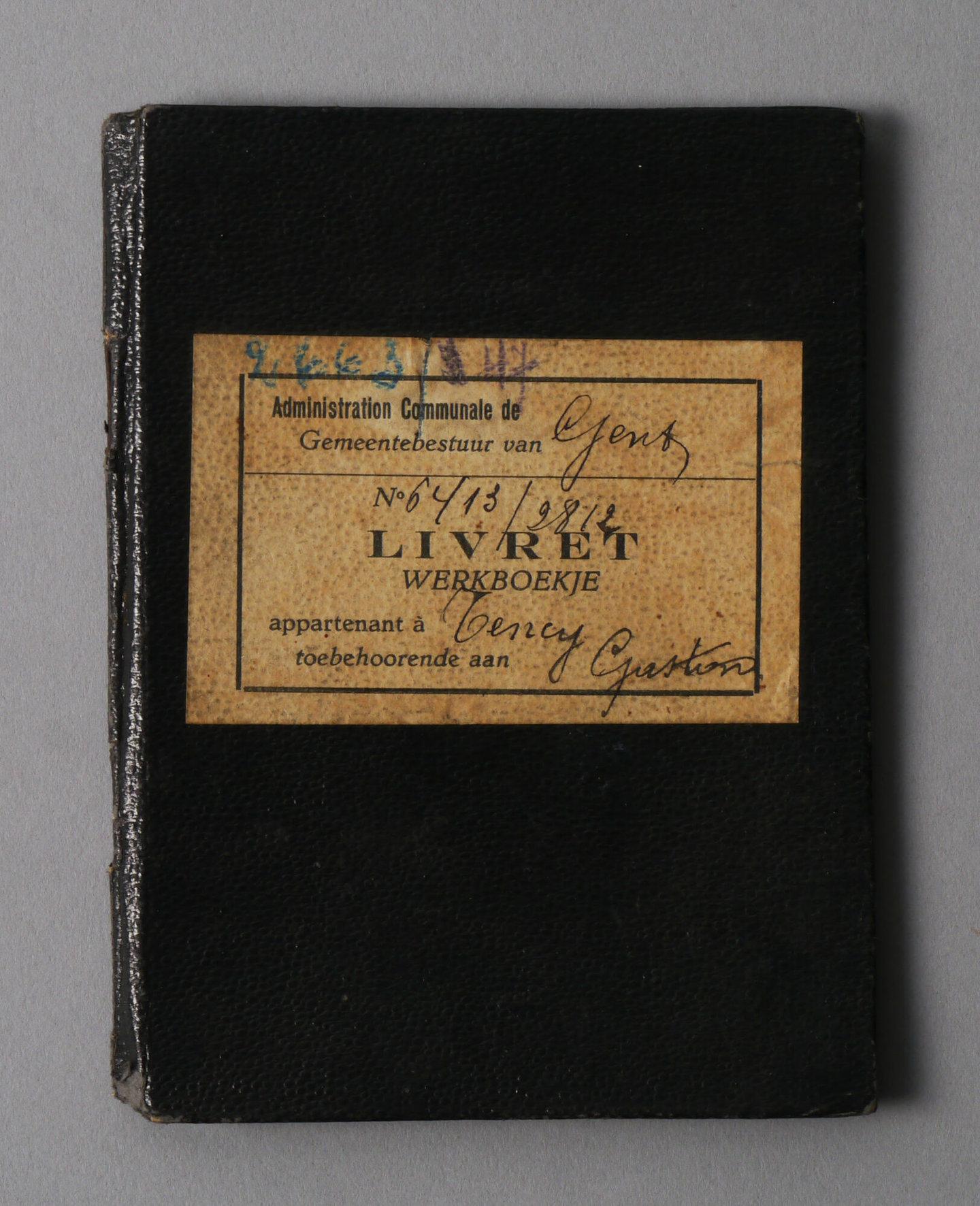 Werkboekje van Gaston Polydoor Tency