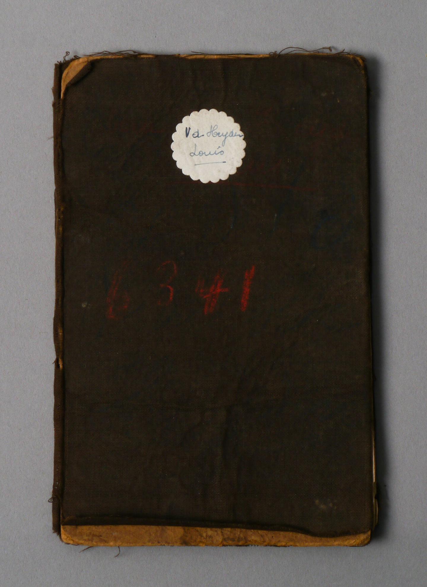 Werkboekje van Louis Vander Heyden