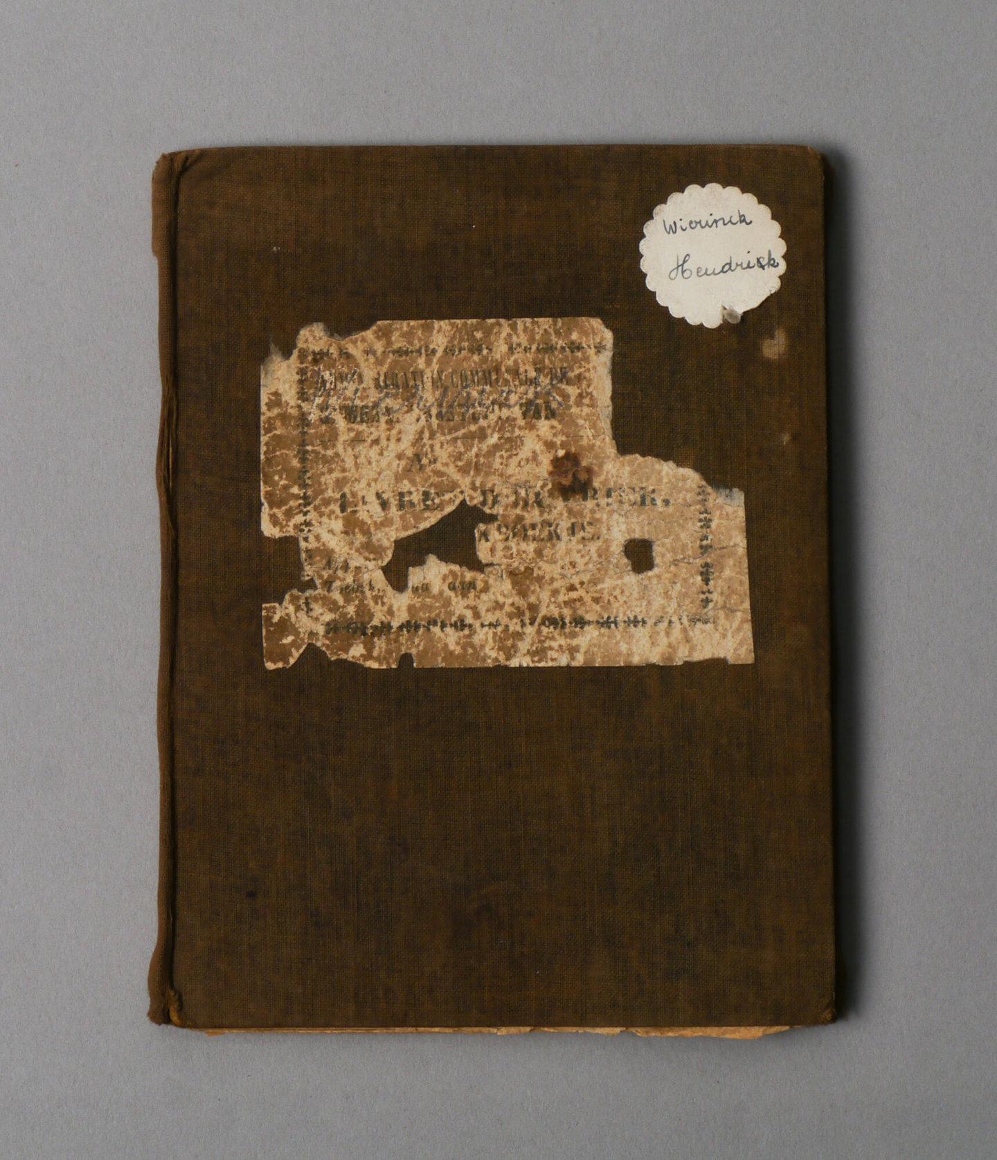 Werkboekje van Hendrik Edmond Wierinck