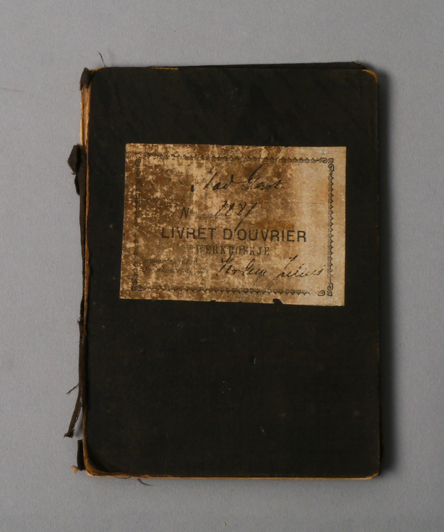 Werkboekje van Julius Verleye