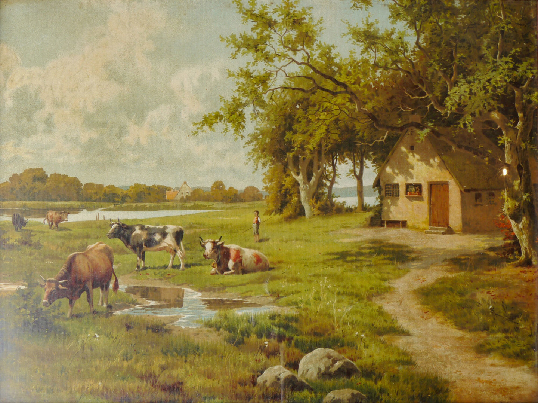Landschap met koeien en koewachtersjongen