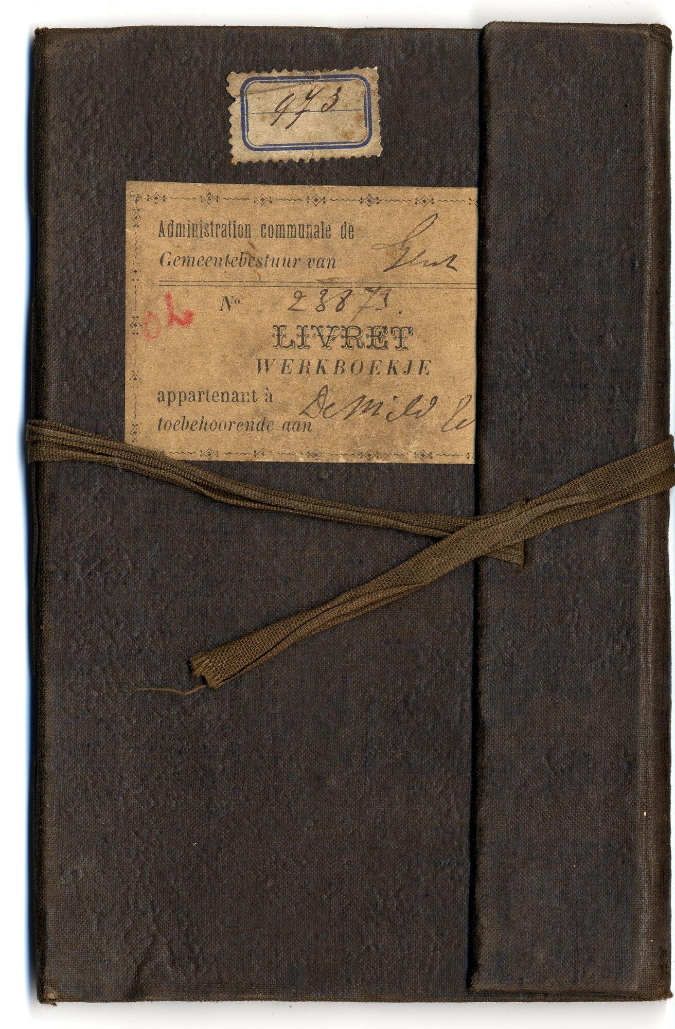 Werkboekje van Edmondus De Mild