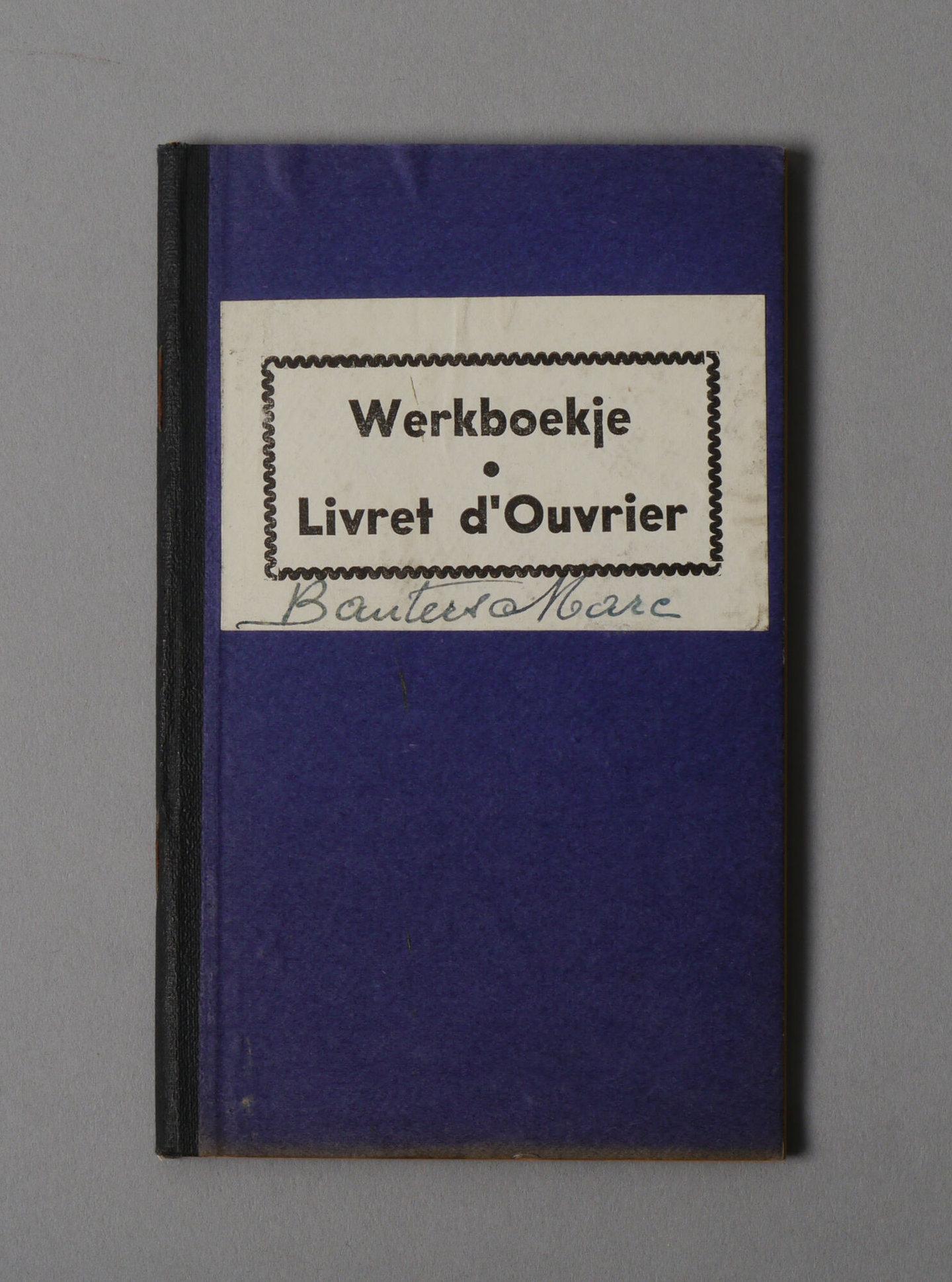 Werkboekje van Marc Leon Bauters