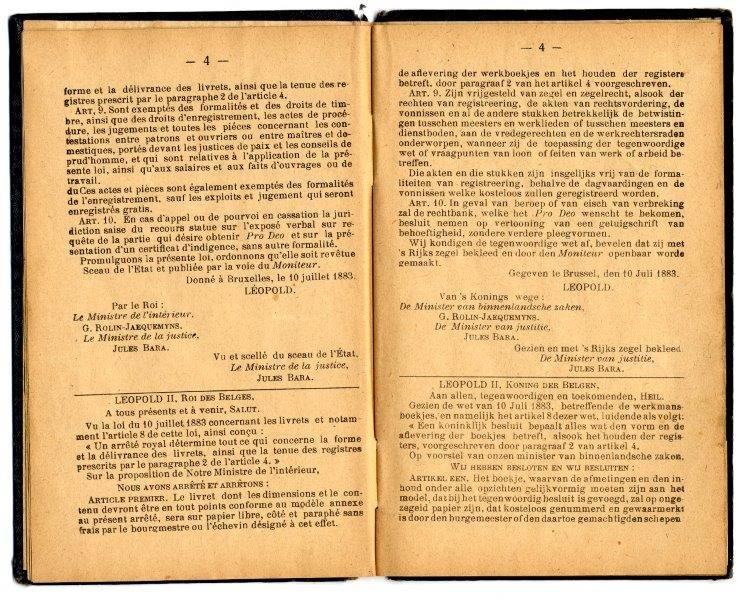 Werkboekje van Eugénie Rosa Castelein