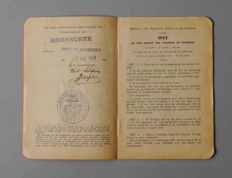 Wetboekje van Omer Louis Van Lacke