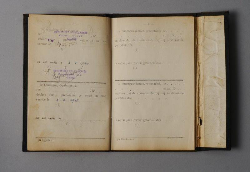 Werkboekje van Clara Ida Backe