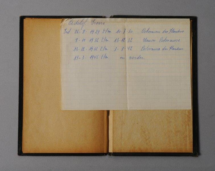 Werkboekje van Irena Adelhof