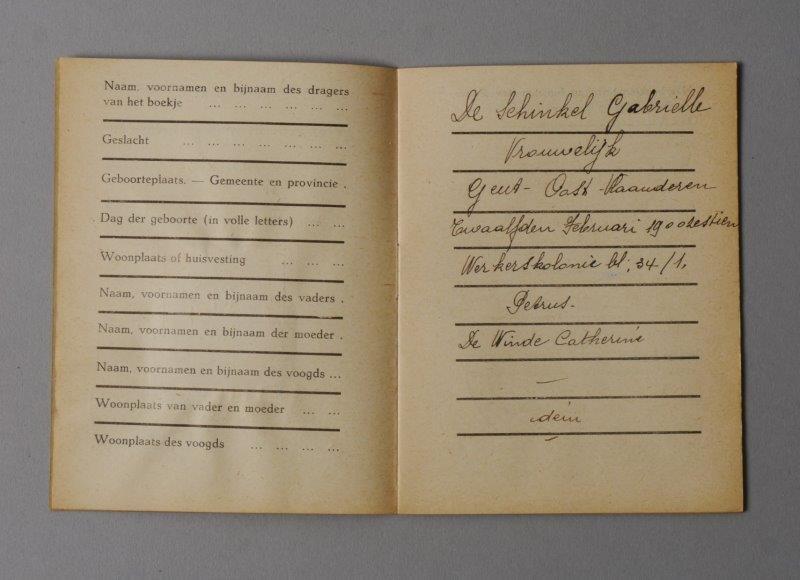Wetboekje van Gabrielle De Schinkel