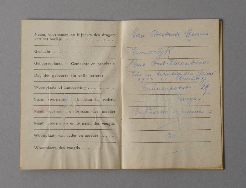 Wetboekje van Maria Van Oostende