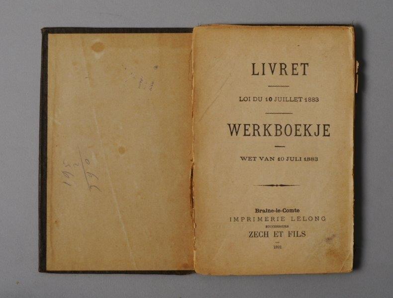 Werkboekje van Pieter De Meyer