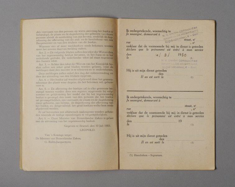 Werkboekje van Michel Van Autryve