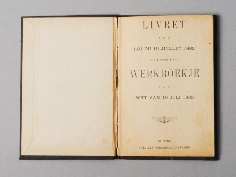 Werkboekje van Jean Louis Cleyman