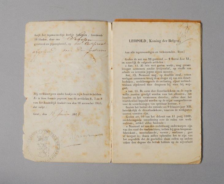 Werkboekje van Eduard Louis Cleyman