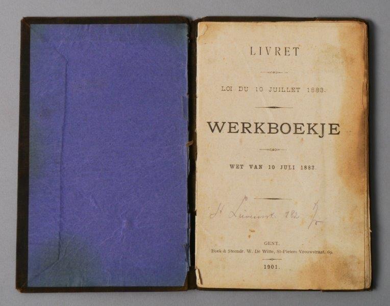 Werkboekje van Petrus Flerick