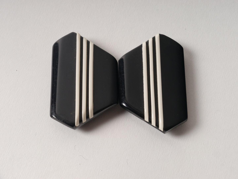 Kunststof gesp uit twee delen in de vorm diamenten