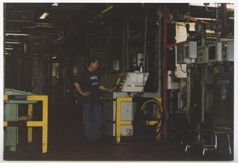 Sanformachine in textielfabriek UCO Braun in Gent