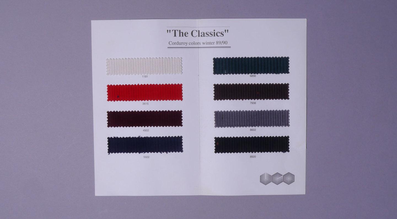 Staalboek met textielstalen van UCO