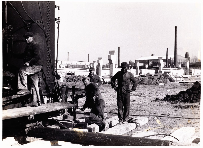Bouw van de textielfabriek E.J. Braun te Gent