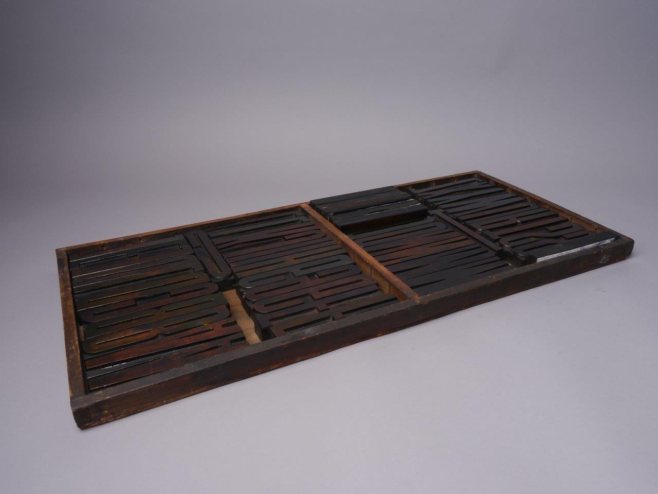 Houten drukletters van het type Gothic Condensed