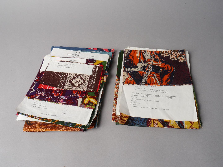 Bedrukte textielstalen van het merk TAE